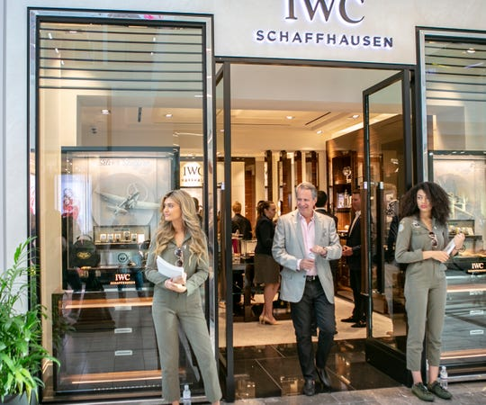 IWC Schaffhausen hosts a cocktail launch party for their Spitfire watch collection in Scottsdale Fashion Square, Thursday, April 25, 2019.