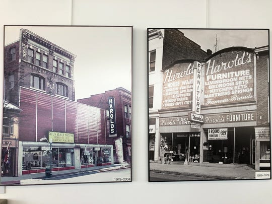 Photos of the original downtown Lebanon locations for Harold's Furniture, which will close its doors after 73 years in business.
