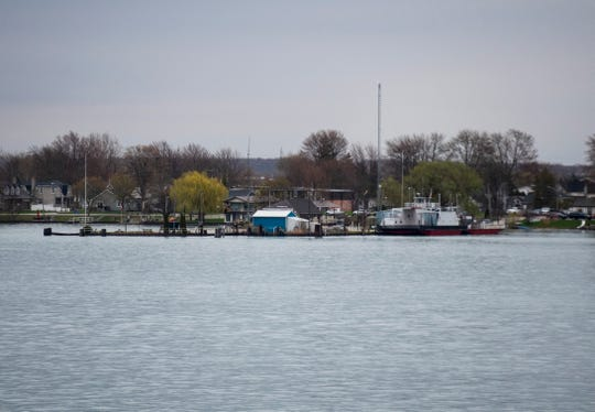 The Bluewater Ferry between Marine City and Sombra, Ontario, remains closed after the roadway that connects the ferry dock to the mainland was damaged by ice in January 2018.