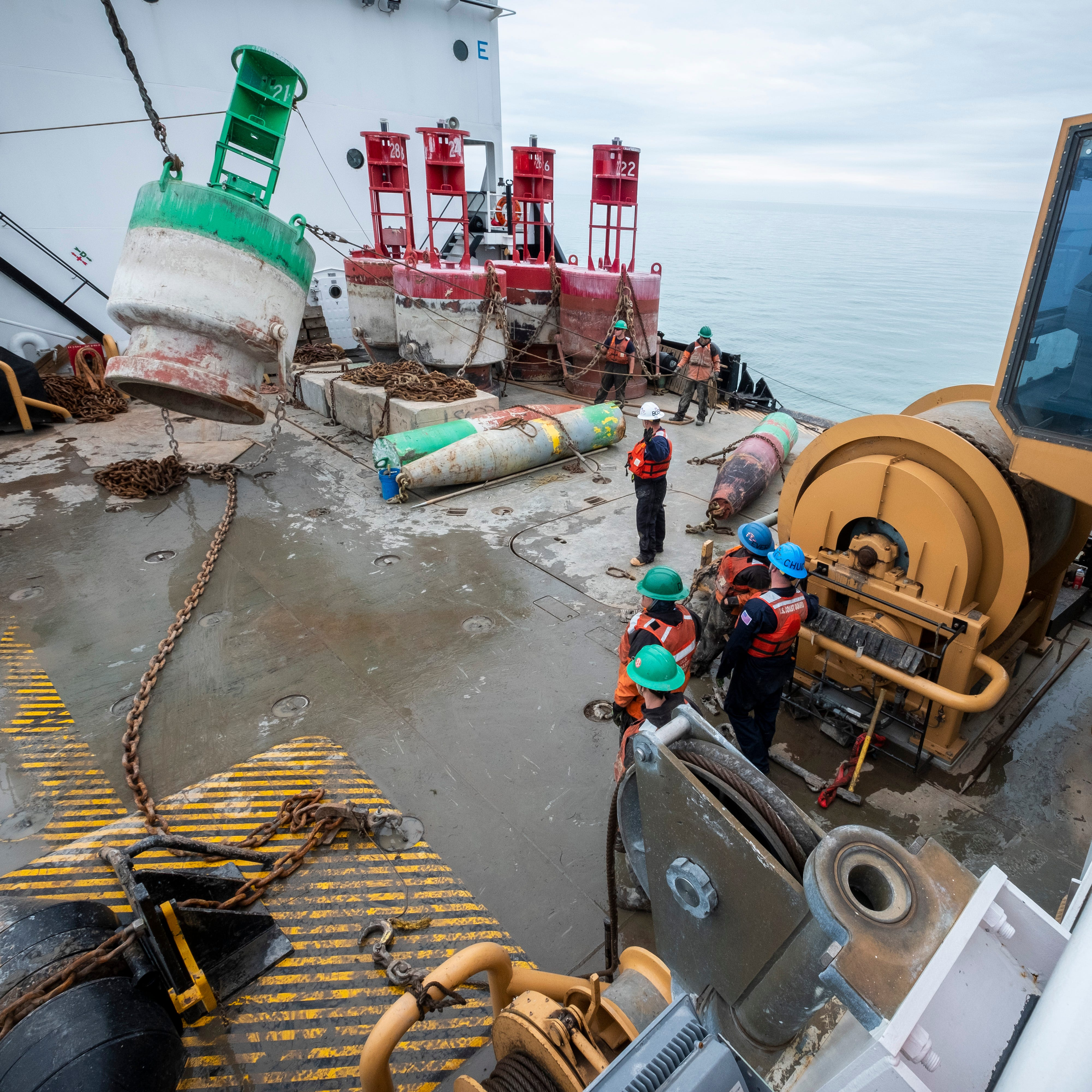 Tending to the buoys on the Hollyhock: A day with the U.S. Coast Guard ship and her crew