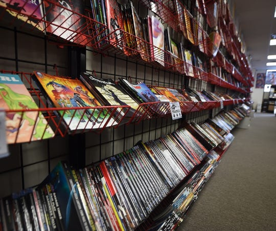 Inside Comic Store West in York on April, 26, 2019. Store owner Brian Waltersdorff is hoping the comic book store and the industry can continue to weather the storm of uncertainty the coronavirus outbreak has brought with it.