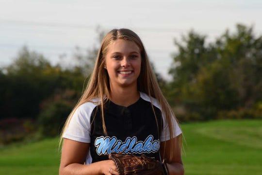 Midlakes softball pitcher Trinity Maestre