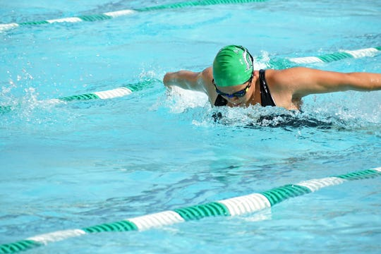 Arista holds four records in her favorite event, the freestyle, taking the top spot in the 50, 100, 200 and 500 meters.