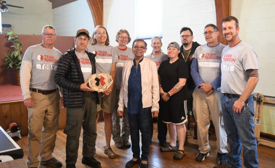 Team Rubicon poses for a photo at their headquarter location, St. Phillips Episcopal in Laurel, Del., on Friday, April 26, 2019.