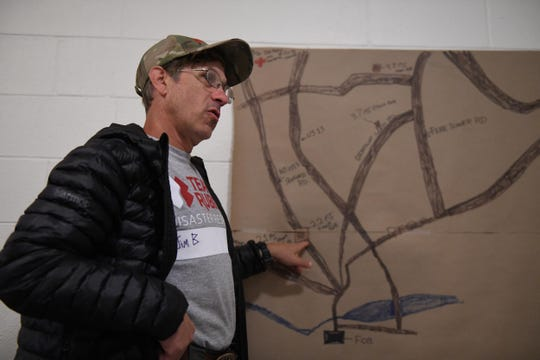 Jim Bartlett, Incident Commander- Team Rubicon, speaks about the areas in Laurel, Del. that his team aided residents with cleanup after an E2 Tornado touched down on April 15, 2019.