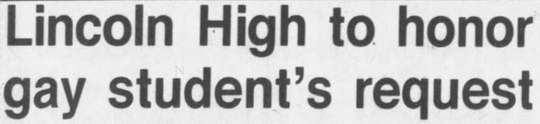 The Argus Leader's first headline regarding Randy Rohl and Grady Quinn on May 11, 1979.