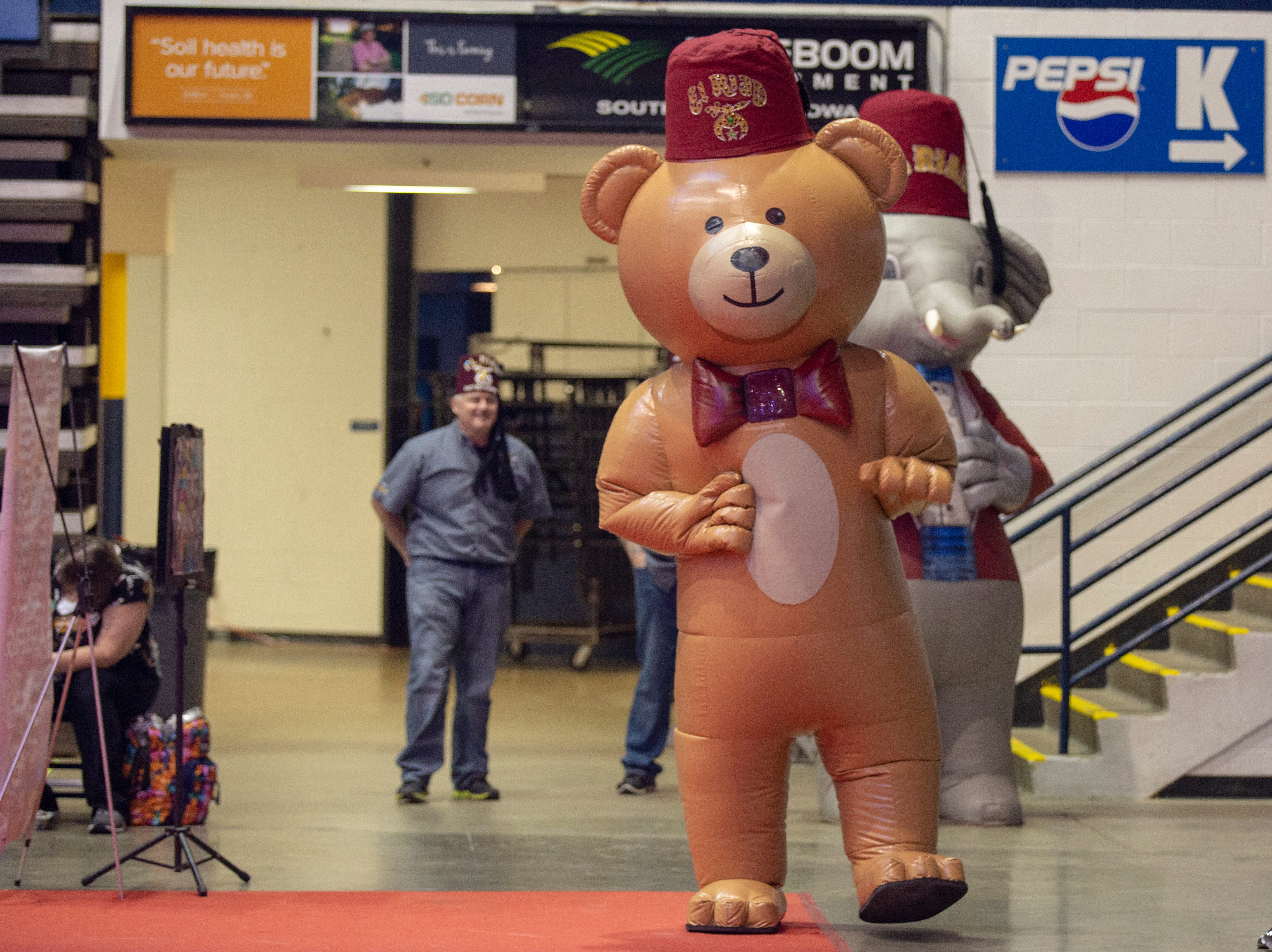 Fuzzy & Peanut walk the Sioux Falls Arena saying hi to all that attend the 2019 El RiadShrine Circus during THursday's performance. Shows run Thursday through Sunday; you can find more informationon show times at elriadshrine.com.