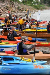 Hundreds of kayaks and canoes will fill the Missouri River between Yankton and Sioux City May 25 and 26 for the South Dakota Kayak Challenge.