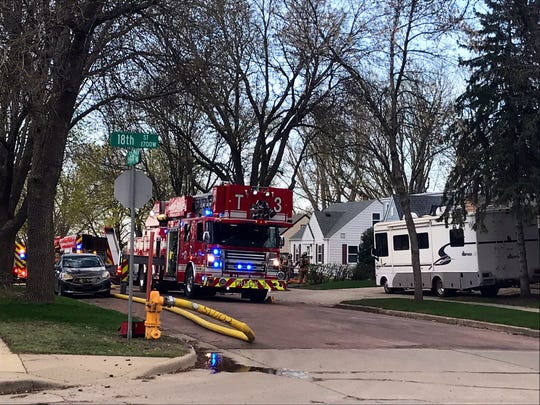 Crews responded to a report of a structure fire on the 900 block of S. Hawthorne Avenue around 6:21 p.m. Thursday, April 25.