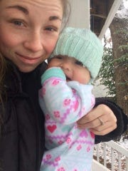 Cheyenne Dancause and her daughter Hadlee.