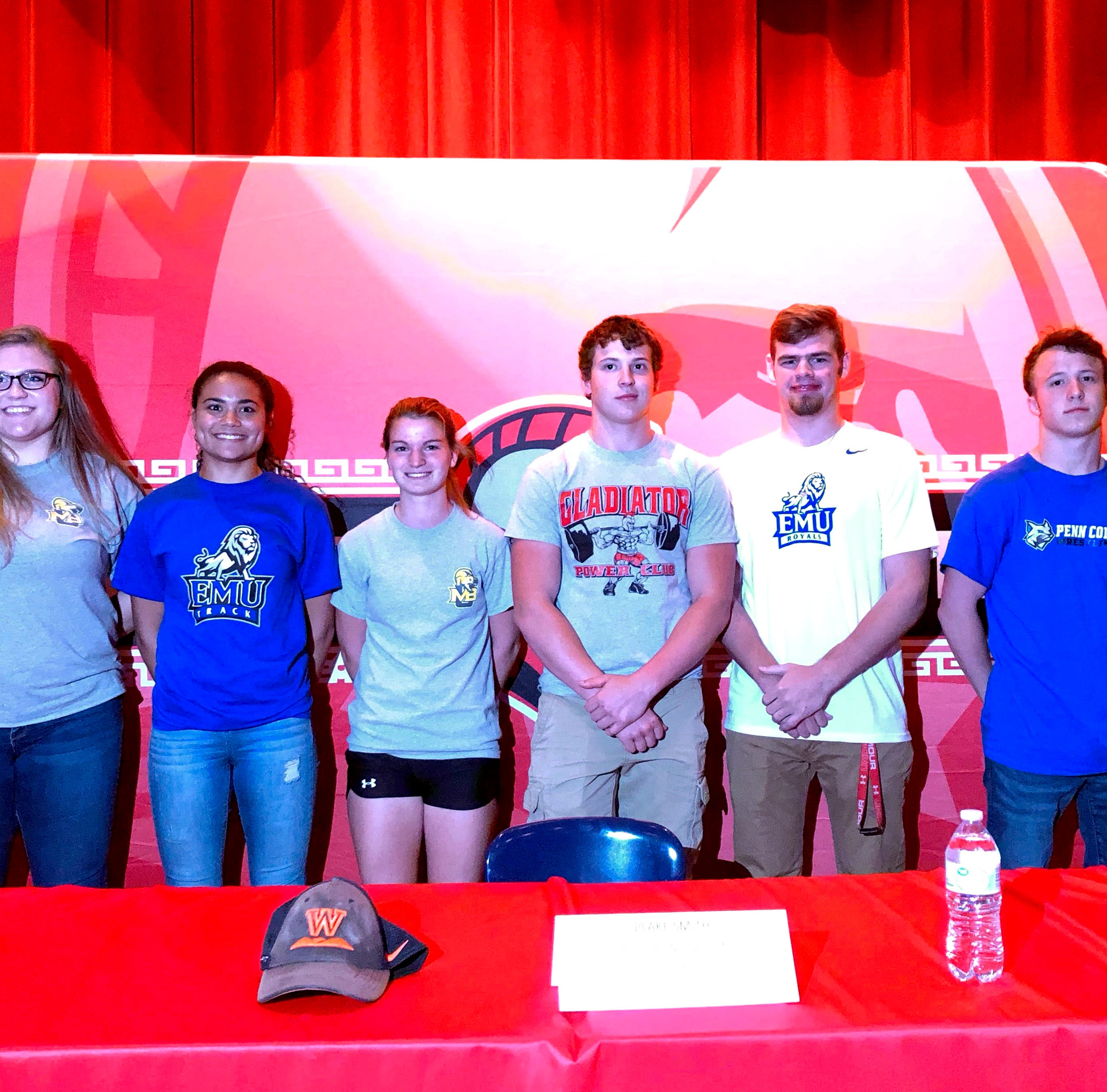 Riverheads recognizes six athletes headed off to college