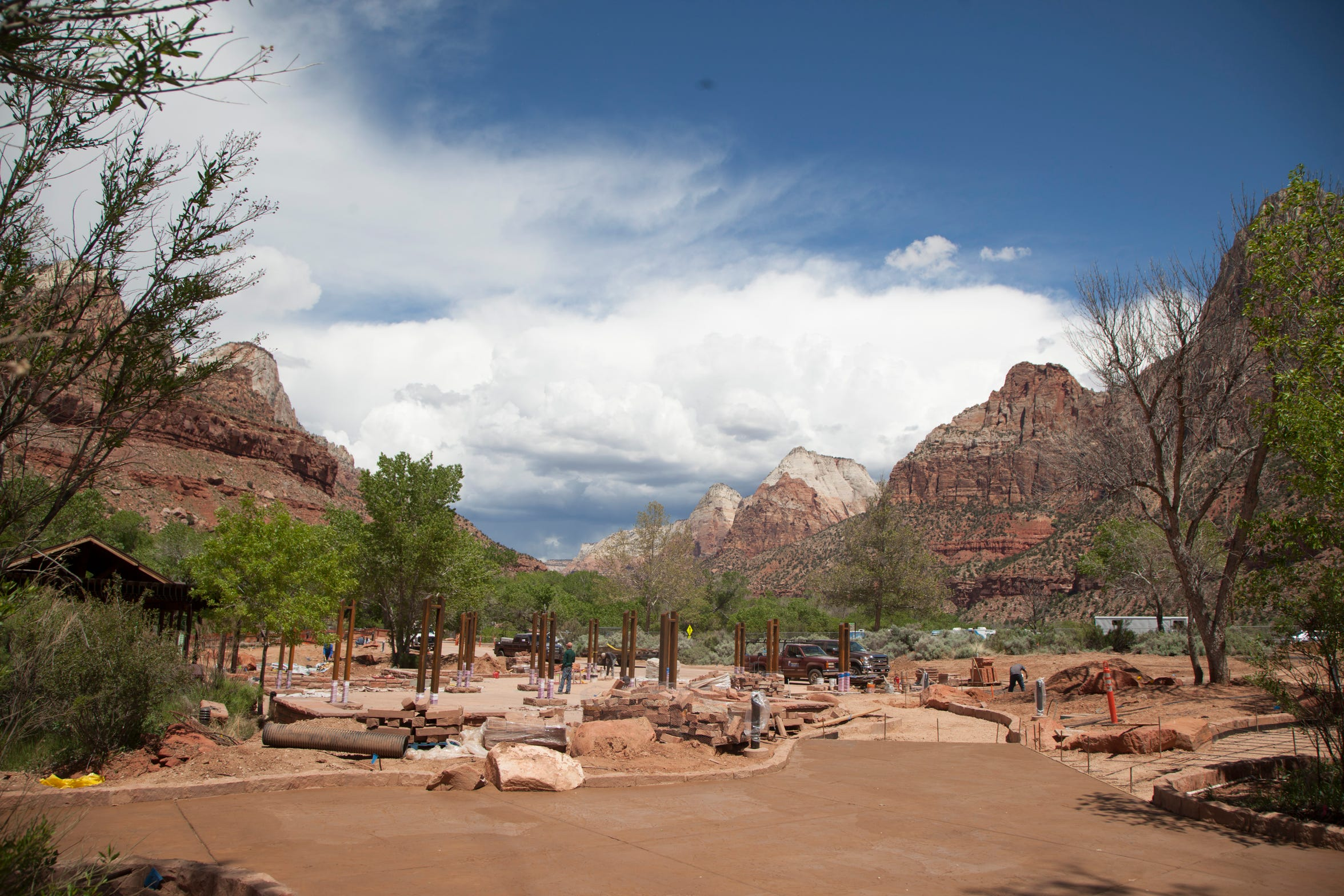Visitors from around the world flock to Zion National Park as the busy season begins Thursday, April 25, 2019.