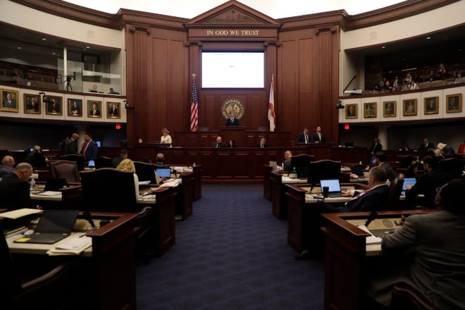 The Senate carries on as the 2019 Legislative Session nears the end of its second last week Thursday, April 25, 2019.