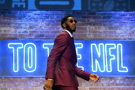 Apr 25, 2019; Nashville, TN, USA; Brian Burns (Florida State) takes the stage prior to the first round of the 2019 NFL Draft in Downtown Nashville. Mandatory Credit: Christopher Hanewinckel-USA TODAY Sports