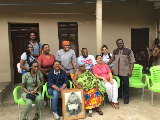 The group visited a typical Ghanaian village close to Cape Coast and were welcomed by the elders of the village during an official greeting ceremony.