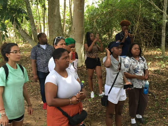 TCC students toured Ghana, and learned about the community, their traditions, and then later went on a hiking tour to Wli Falls, which is the highest waterfalls in Ghana.