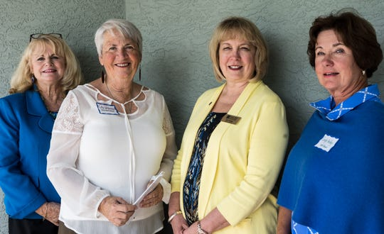 Head, Heart & Hands of Indian River Club recently awarded a grant to Youth Guidance Mentoring Academy. Pictured are, from left, Susan Hunt, Cathy Westerman, Kim Prado and Cindy Kelley.