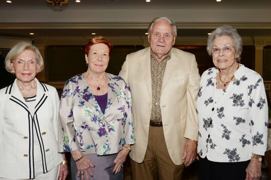 Carole Brown, Helen Robertson and Armund and Marie Ek at the Hibiscus Children's Center Appreciation Luncheon at Vero Beach Country Club.
