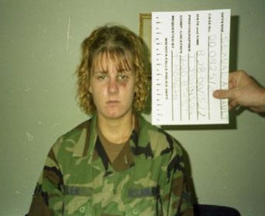 Harmony Allen after she was beaten and raped while she was in the Air Force in 2000.