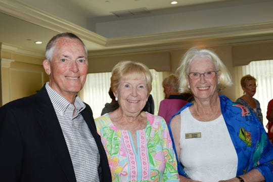 Grant Withers, left, Sally Pearse, and Marna Huber with Grand Harbor Community Outreach, at the Hibiscus Children's Center Appreciation Luncheon at Vero Beach Country Club.