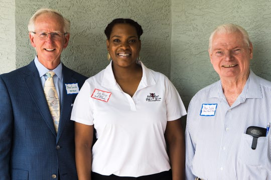 Head, Heart & Hands of Indian River Club recently awarded a grant to Gifford Youth Orchestra. Pictured are, from left,  Steve Corrick, Iva Perry-Powel of Gifford Youth Orchestra, and Steve Sadlek.