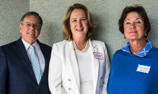 Head, Heart & Hands of Indian River Club recently awarded a grant to the Education Foundation of Indian River County. Pictured are, from left, Gary Bruckner, Cynthia Falardeau of the Education Foundation, and Cindy Kelley.