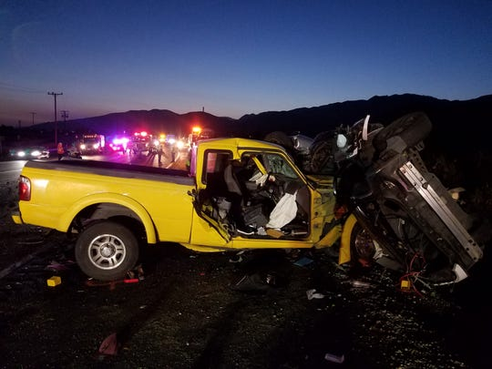 This was the scene of a fatal traffic collision along Highway 126 east of Piru on Thursday.