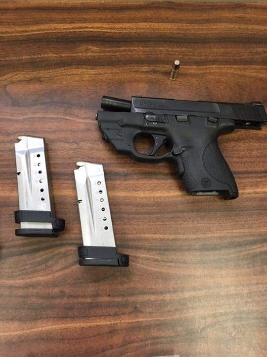 Marcus McCoy, 19, of Camarillo, is accused of stealing this handgun from a Thousand Oaks home, according to the Ventura County Sheriff's Office.