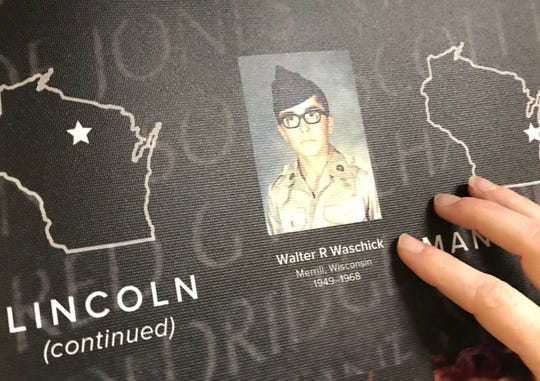 A close-up of the photo of Walter R. Waschick of Merrill, who was killed while on patrol in South Vietnam on Feb. 9, 1968. He was 18 years old.