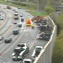 Tractor-trailer carrying food catches fire, backing up I-287 traffic for hours