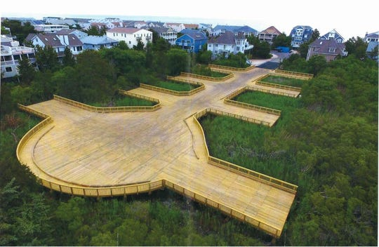This wooden structure will allow development despite environmental restrictions on a high-profitable piece of beach property north of Bethany Beach.