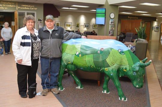 Outagamie County Farm Bureau members Rick and Sherry DeRuyter drive to UW Hospital for follow-up appointments.