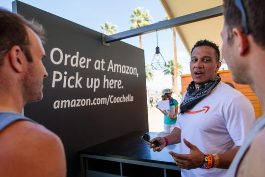 Amazon had lockers at Coachella for the first time this year