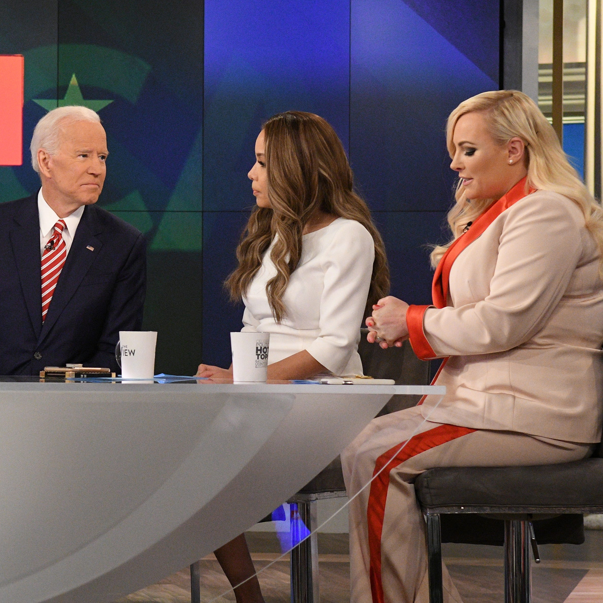 'View' hosts welcome Joe Biden with open arms, Meghan McCain brings him to tears