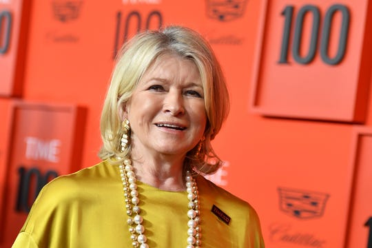 Martha Stewart arrives on the red carpet for the Time 100 Gala at the Lincoln Center in New York on April 23, 2019.