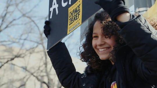 Stoneman Douglas student Victoria Gonzalez, whose boyfriend, Joaquin Oliver, was killed in the attack.