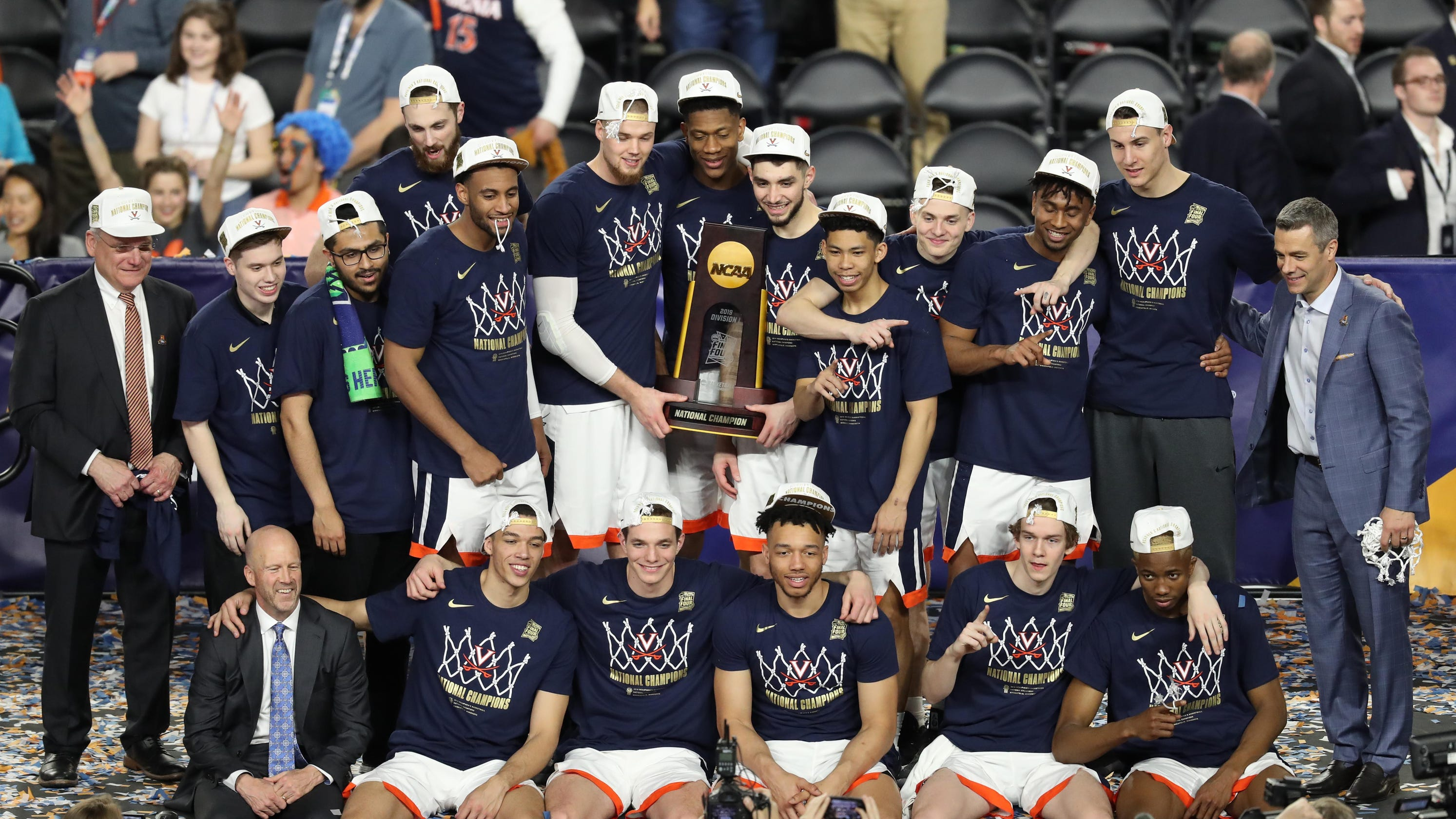 Image result for ncaa champions virginia white house