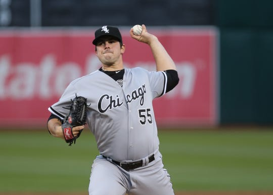 In his rookie season with the White Sox, Carlos Rodon went 9-6 with a 3.75 ERA in 23 starts and three relief appearances.