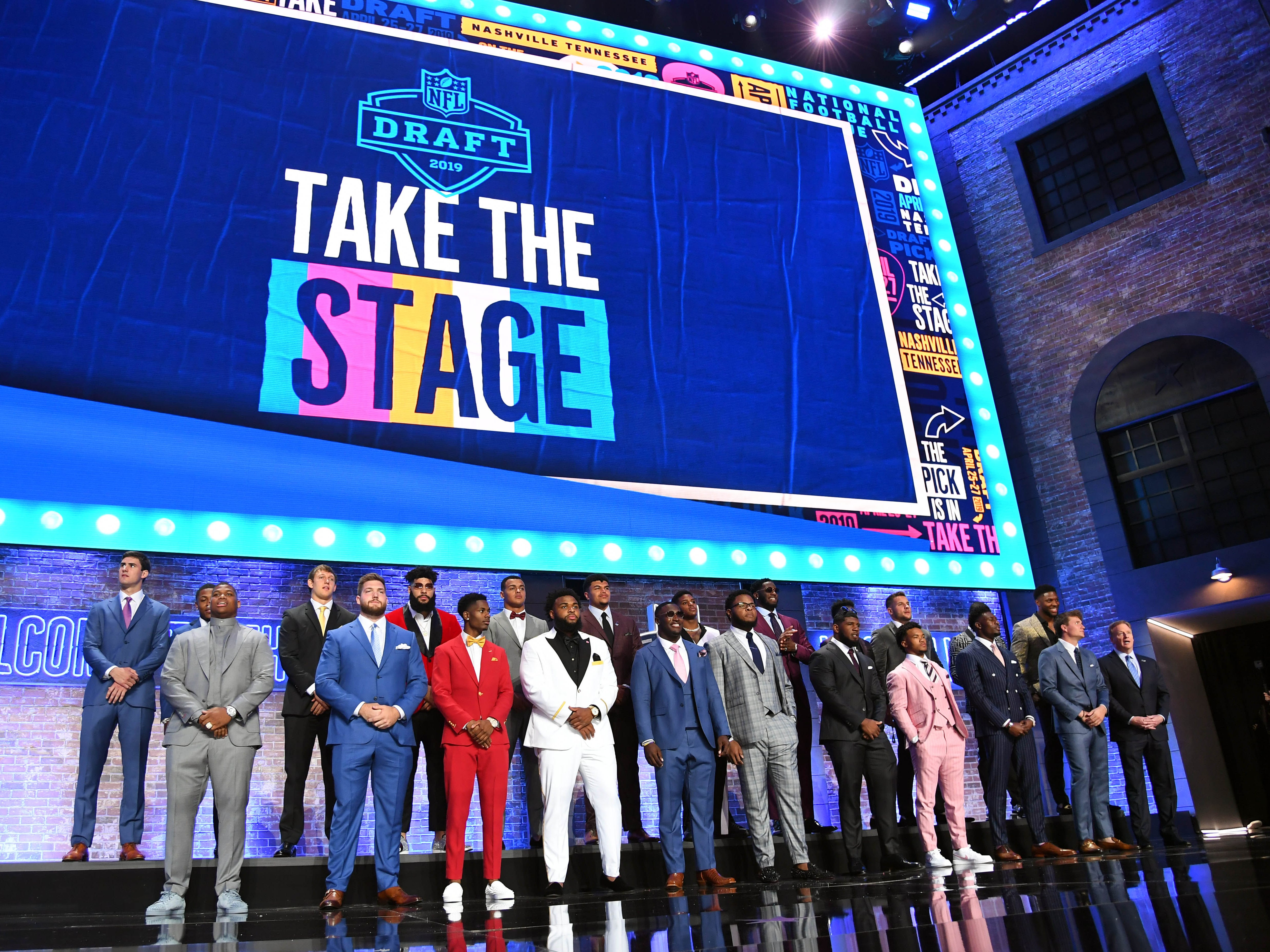 The 2019 draft attendees prior to the first round.