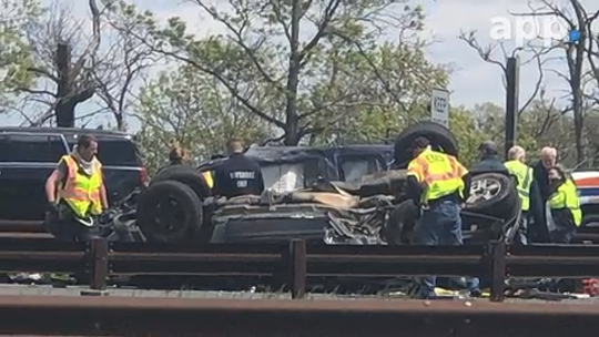 Police investigate a crash on the northbound Garden State Parkway, south of Exit 117.
