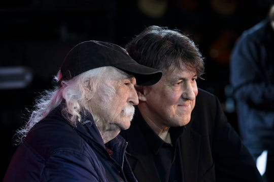 """David Crosby and Cameron Crowe at the Stone Pony promoting their music documentary """"David Crosby: Remember My Name"""""""