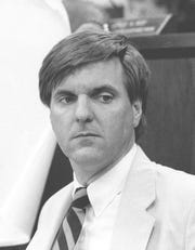 Municipal attorney George R. Gilmore had taken political control of most of southern Ocean County when this Asbury Park Press photo was taken of him at age 35 on July 26, 1984.
