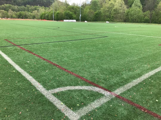 Just a week after this month's flooding, Field 3 at the John B. Lewis Soccer Complex has already been cleaned and is ready for use. Workers were able to remove a layer of silt and mud with equipment already on site.