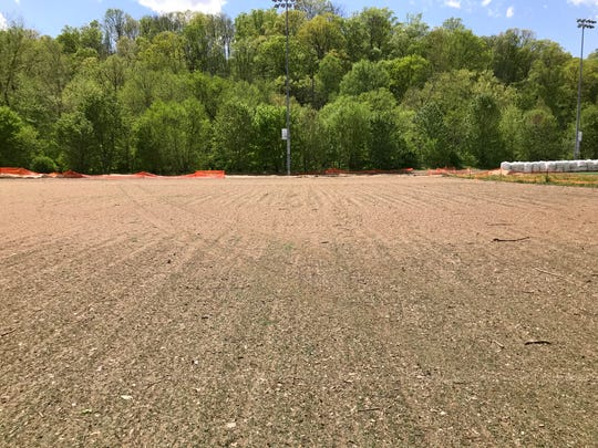 Field 4 at the JBL Soccer Complex still had a heavy layer of silt and mud on it Friday afternoon.