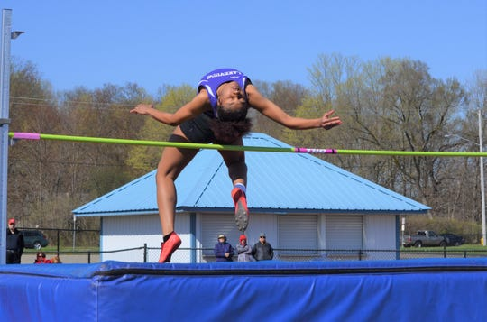 Lakeview's Brazyll Watkins finished first in the high  jump as the Spartans won the team title at the All-City Track Championships.
