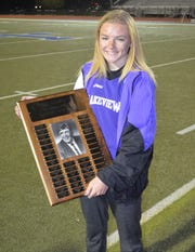 Lakeview sophomore Ellen Zentera was named Most Outstanding Performer of the girls meet at the All-City Track Championships.