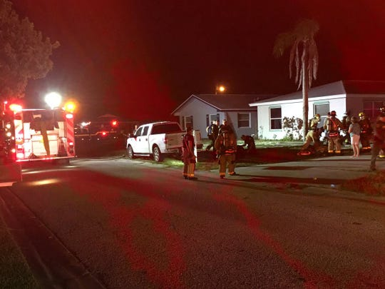 Brevard County Fire Rescue responded to a Merritt Island house fire that left multiple people displaced.