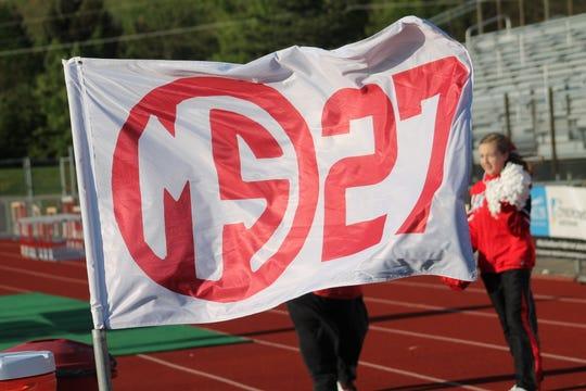 A flag honoring Matt Stratman is planted at the Lakota West bench