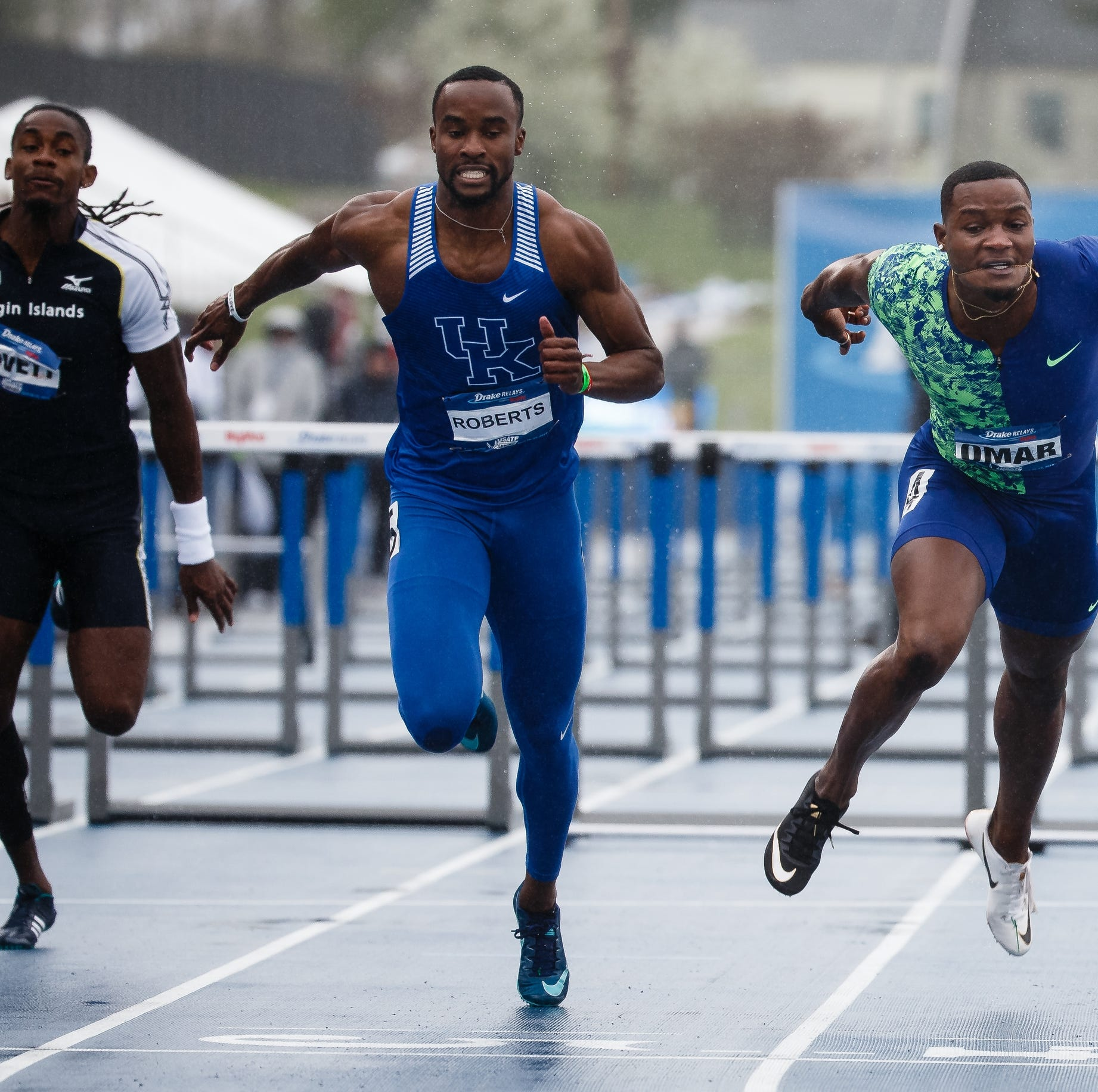 Drake Relays: College runner Roberts knocks off Olympic gold medalist McLeod