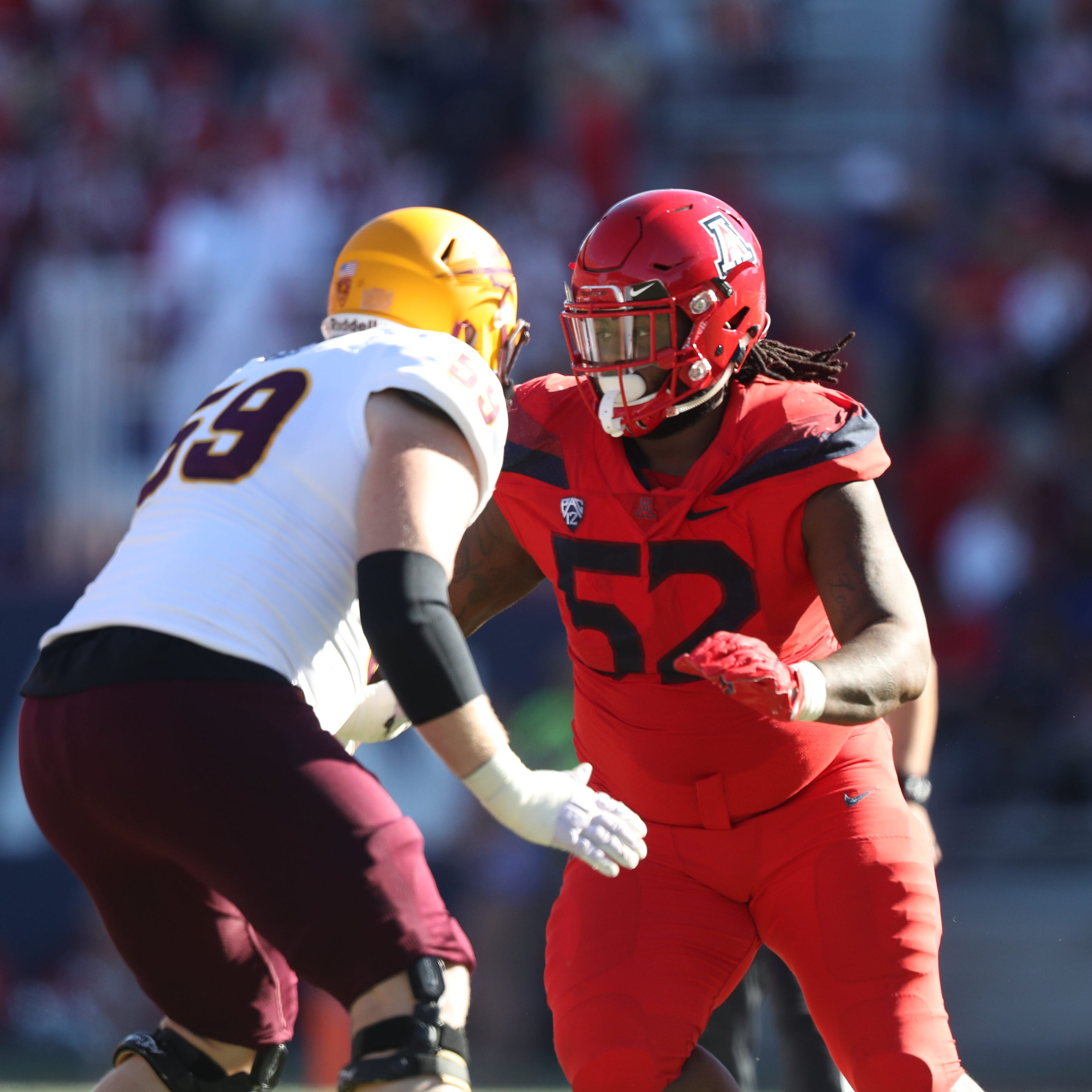 Lions earn B for drafting massive Arizona DT P.J. Johnson in Round 7